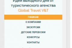 Мобильная версия, меню сайта