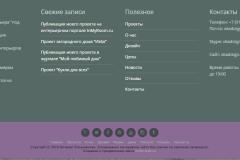 Оформление подвала сайта с дублированием основной информации