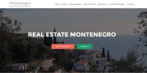 Баннер для сайта real estate montenegro