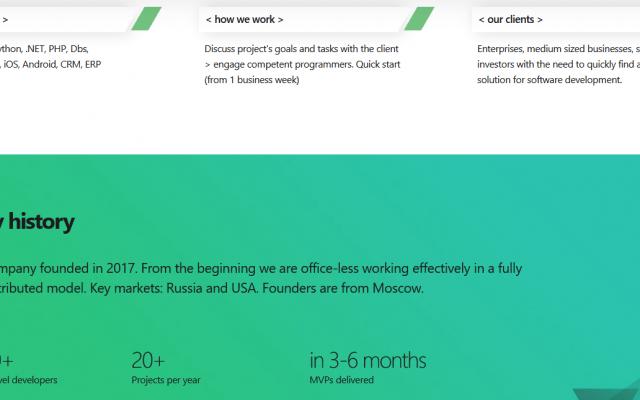 Разработка корпоративного сайта для IT компании ITQuick - инфографика