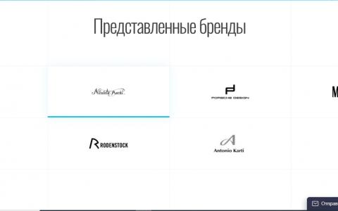 Разработка интернет магазина Market Optic - логотипы представленных брендов