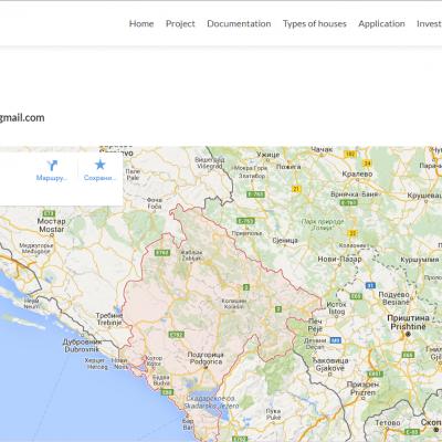 Страница Контакты для сайта real estate montenegro