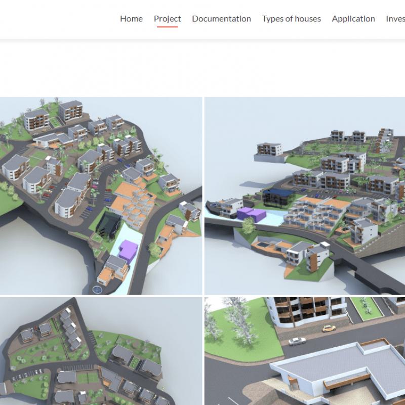 Раздел проектов для сайта real estate montenegro
